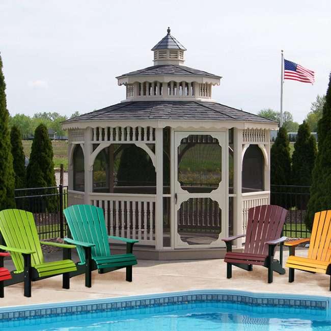 12 X 12 Gazebo With Adirondack Chairs