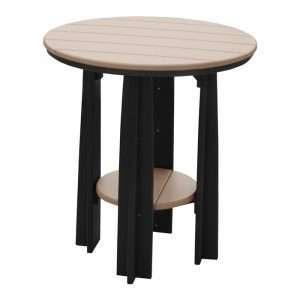 """36"""" Balcony Table Weatherwood and Black"""