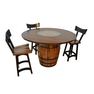 Whiskey Barrel Dining Table