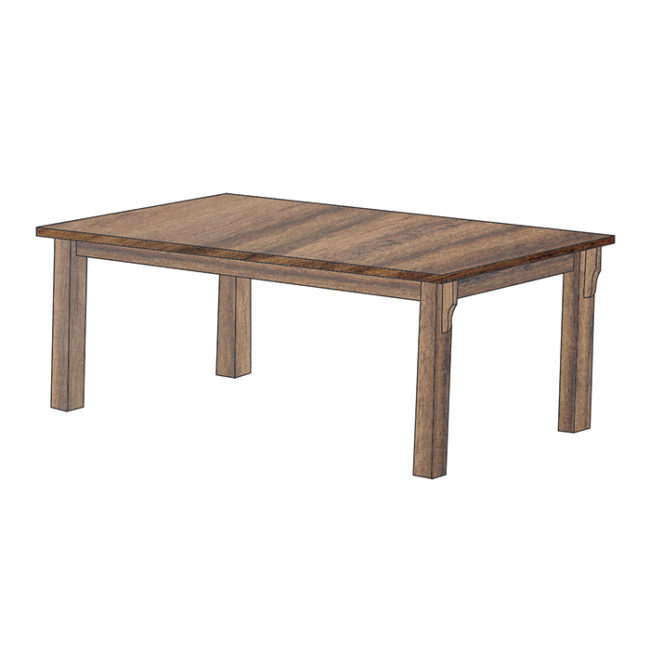 Mission Dining Table with Leg Corbels