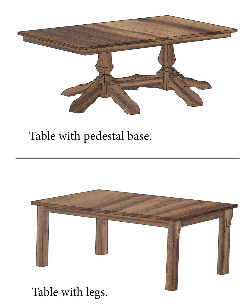 leg and pedestal table